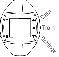 Polar t31 t34 non-coded chest transmitter and elastic strap.