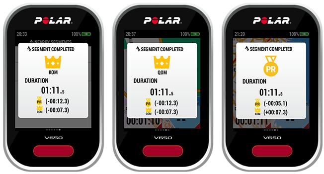 Polar V650 Руководство пользователя | Strava Live Segments®