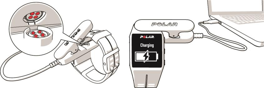 V800 User Manual | Charge the Battery