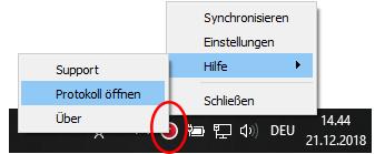 Polar FlowSync Windows taskbar