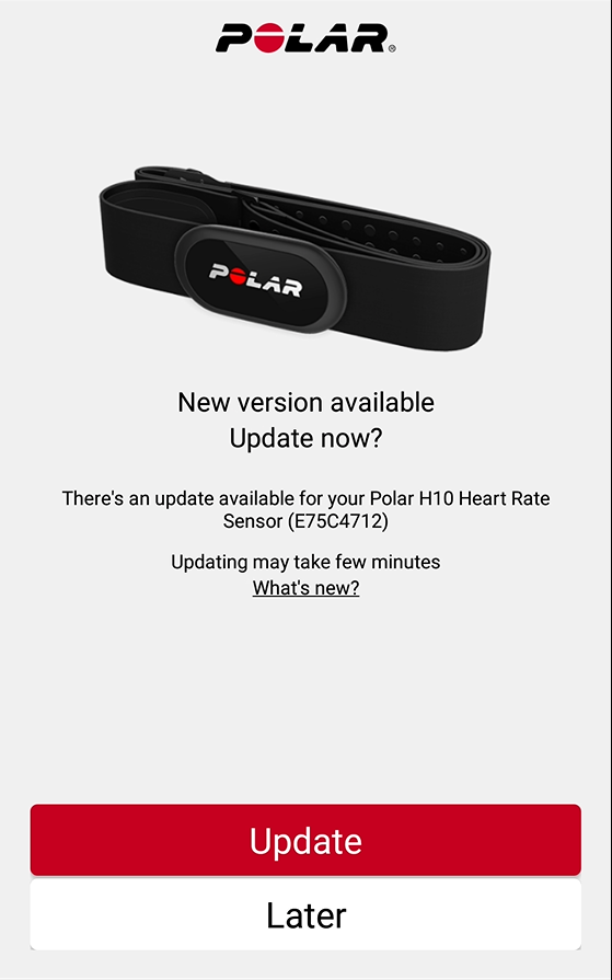 How can I update Polar H10? | Polar Global