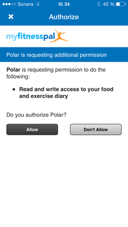 How can I connect MyFitnessPal app with Flow app? | Polar Global
